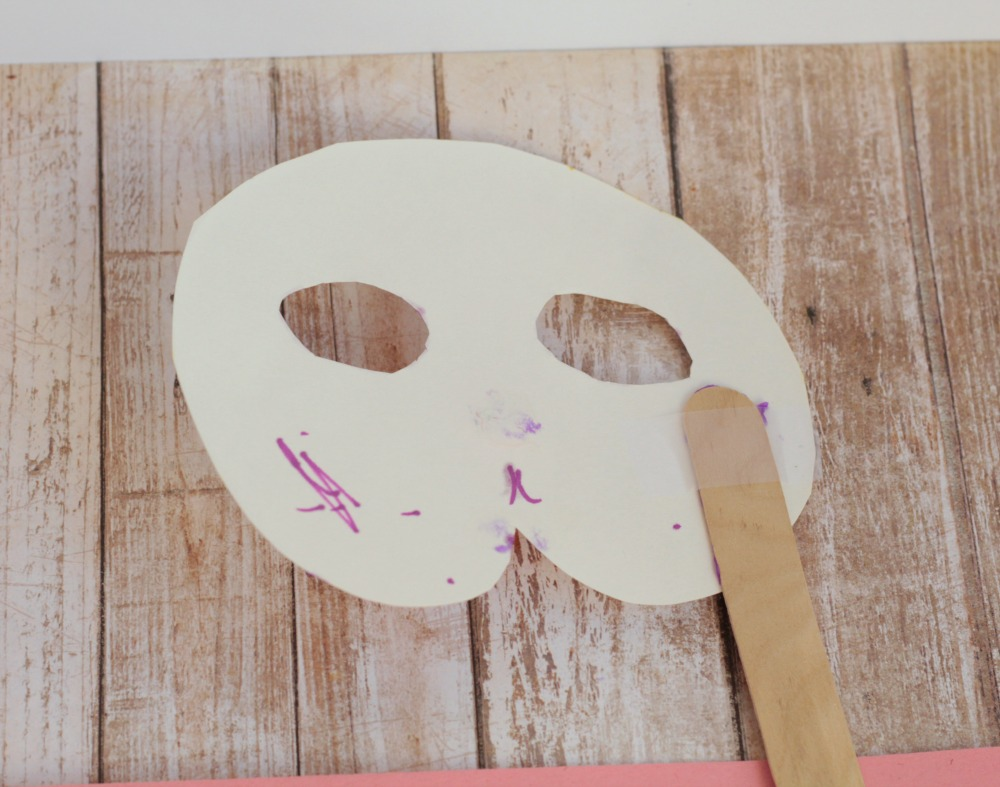 Spring is around the corner, celebrate it by making paper plate bunny mask! This mask needs a craft, a stick, a paper plate, and construction paper.