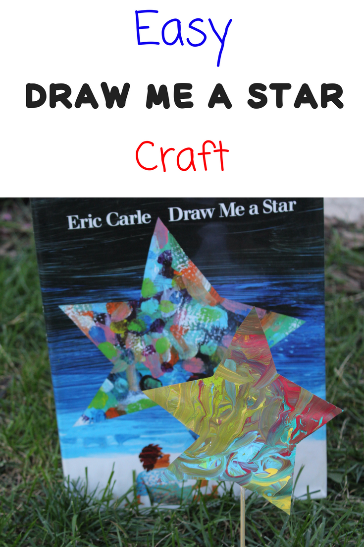 Easy Draw me a Star Craft to go along with the Eric Carle Book, Draw me a Star.