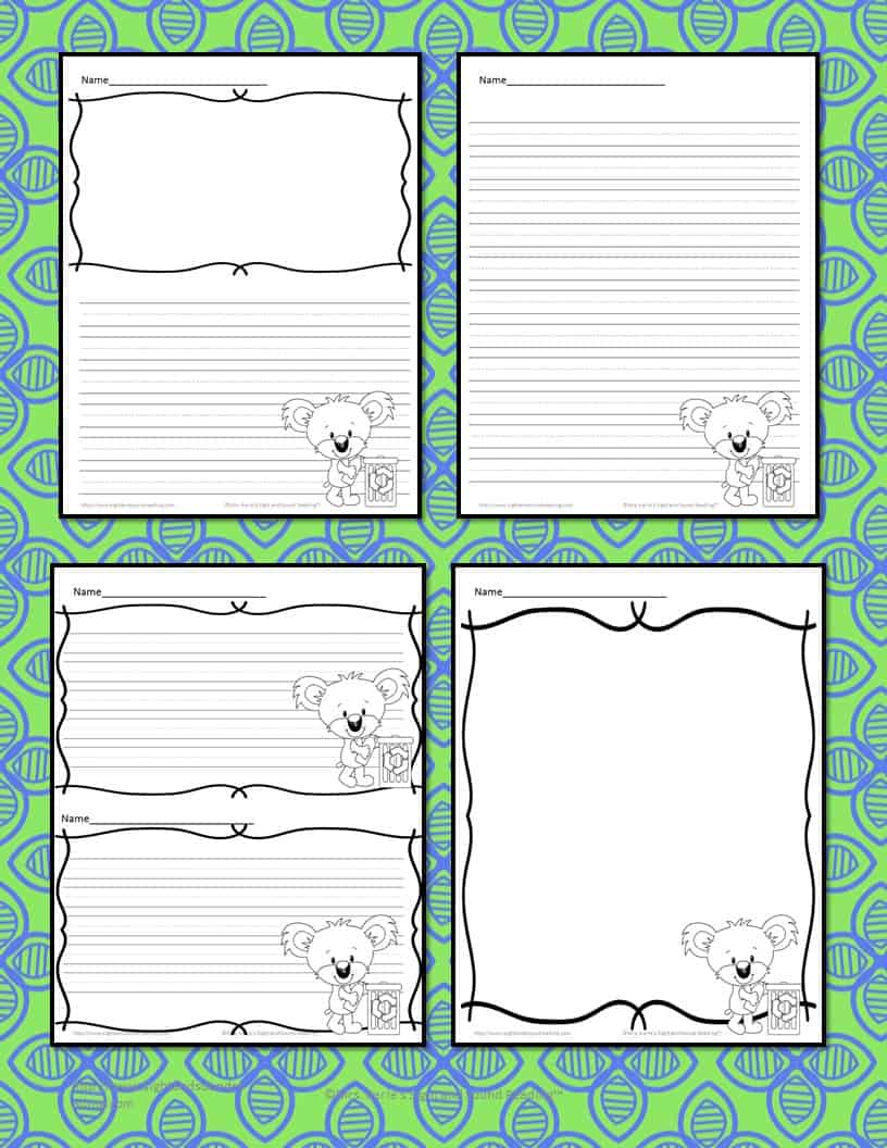 Earth Day Writing Paper - 4 free pages for different levels of students - preschool, kindergarten and beyond.