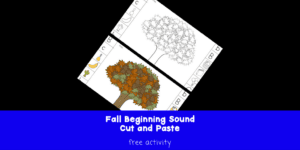 Fall Beginning Sound Fun -Help students learn beginning sounds with this free cut and paste activity