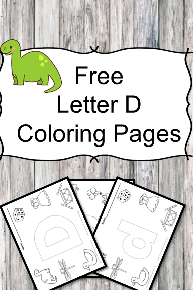 Letter D Coloring Pages -Free letter Coloring Pages for Preschool or Kindergarten