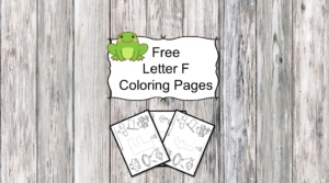 Letter F Coloring Pages -Free letter Coloring Pages for Preschool or Kindergarten