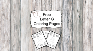 Letter G Coloring Pages -Free letter Coloring Pages for Preschool or Kindergarten