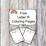 Letter R Coloring Pages -Free letter Coloring Pages for Preschool or Kindergarten