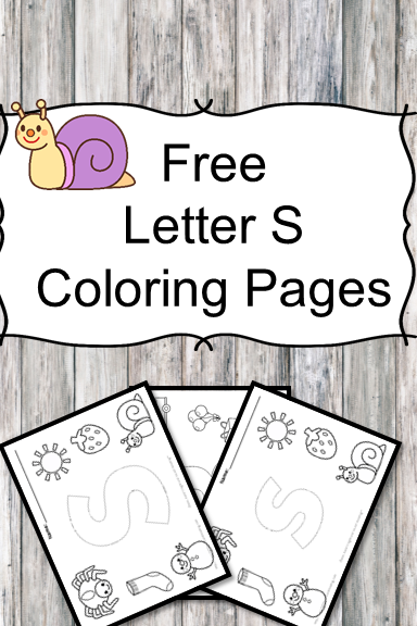 Letter S Coloring Pages -Free letter Coloring Pages for Preschool or Kindergarten