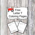 Letter T Coloring Pages -Free letter Coloring Pages for Preschool or Kindergarten