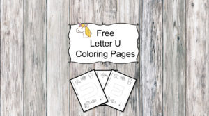 Letter U Coloring Pages -Free letter Coloring Pages for Preschool or Kindergarten