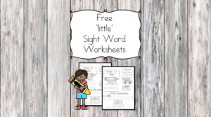 little Sight Word Worksheet -for preschool, kindergarten, or first grade - Build sight word fluency with these interactive sight word worksheets