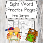 Fall Sight Word Practice Pages ...with turkeys and squirrels. Great for preschool or Kindergarten.