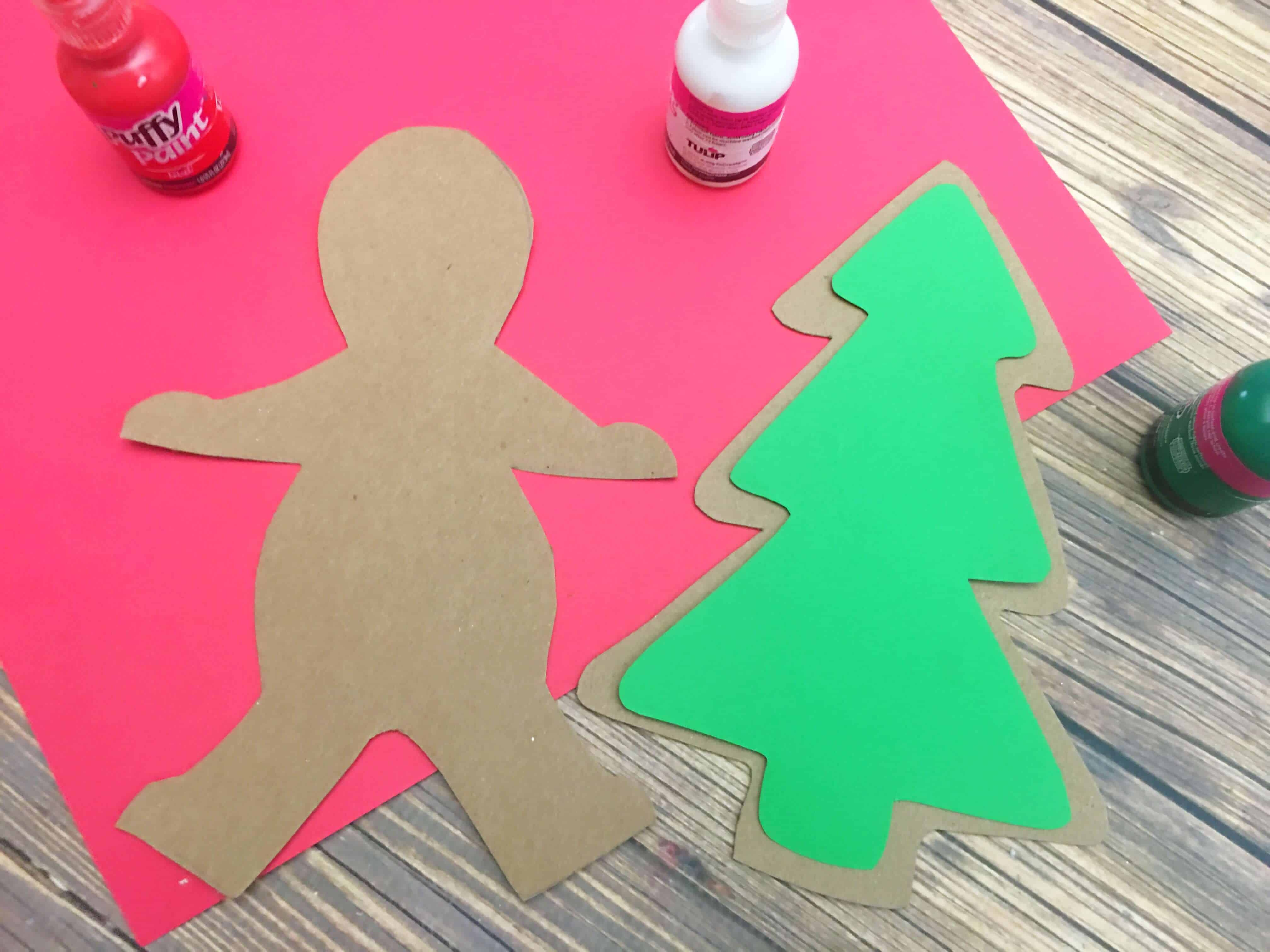 Cute, easy and fun paper gingerbread craft that you can make after reading a Gingerbread man book. Great craft for preschool or kindergarten.