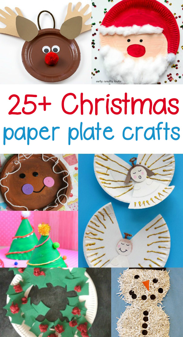 Paper Plate Christmas Craft - Fun and easy craft projects for preschool or kindergarten and beyond to help celebrate the Christmas spirit.
