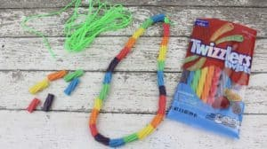 Preschool Rainbow Necklace Craft -great for Spring or St. Patrick's Day!