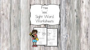 see Sight Word Worksheet -for preschool, kindergarten, or first grade - Build sight word fluency with these interactive sight word worksheets