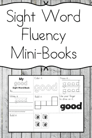 Sight Word Mini Fluency Book -Larch photo