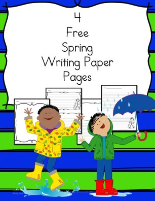 Spring Writing Paper - 4 free pages for different levels of students.
