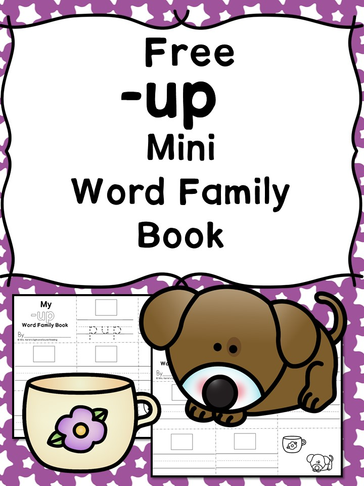 Teach the up word family using these up cvc word family worksheets. Students make a mini-book with different words that end in 'up'. Cut/Paste/Tracing Fun